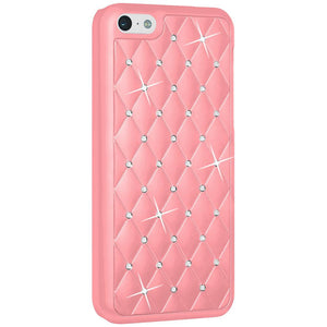 AMZER Diamond Lattice Snap On Shell Case - Light Pink for iPhone 5C