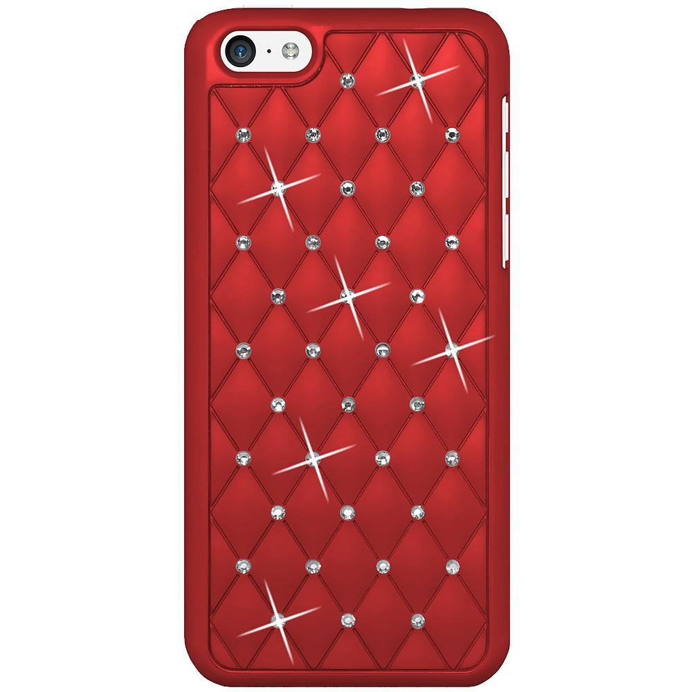 AMZER Diamond Lattice Snap On Shell Case - Dark Red for iPhone 5C