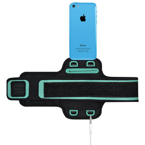AMZER Water/Sweat Resistant Sports Armband with Key Holder for iPhone 5C