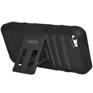 AMZER Shockproof Dual Layer Cover Hybrid Kickstand Case for iPhone 5C