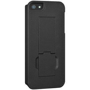 AMZER Shellster Hard Case with Belt Clip Holster for iPhone 5 - Black