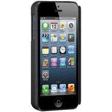 Load image into Gallery viewer, AMZER Shellster Hard Case with Belt Clip Holster for iPhone 5 - Black
