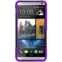 Load image into Gallery viewer, Amzer Double Layer Hybrid Case with Kickstand - Black/ Purple for HTC One Max