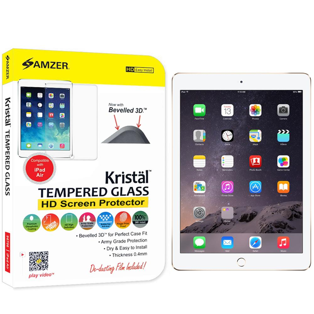 AMZER Kristal Tempered Glass HD Screen Protector for Apple iPad 9.7