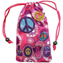 Load image into Gallery viewer, AMZER Drawstring Pouch - Peace & Love
