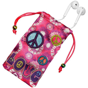 AMZER Drawstring Pouch - Peace & Love