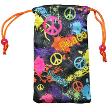 Load image into Gallery viewer, AMZER Drawstring Pouch - Splatter Paint & Peace
