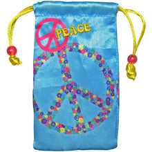 Load image into Gallery viewer, AMZER Drawstring Pouch - Peace Sign
