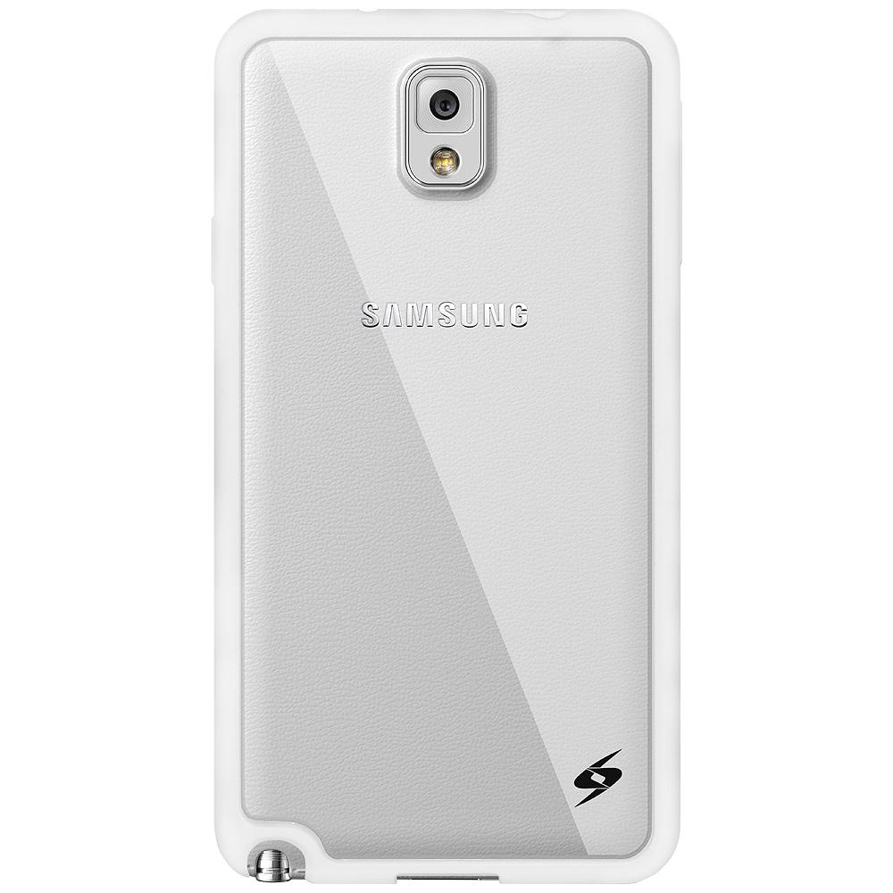 AMZER SlimGrip Hybrid Case - White for Samsung GALAXY Note 3 SM-N900