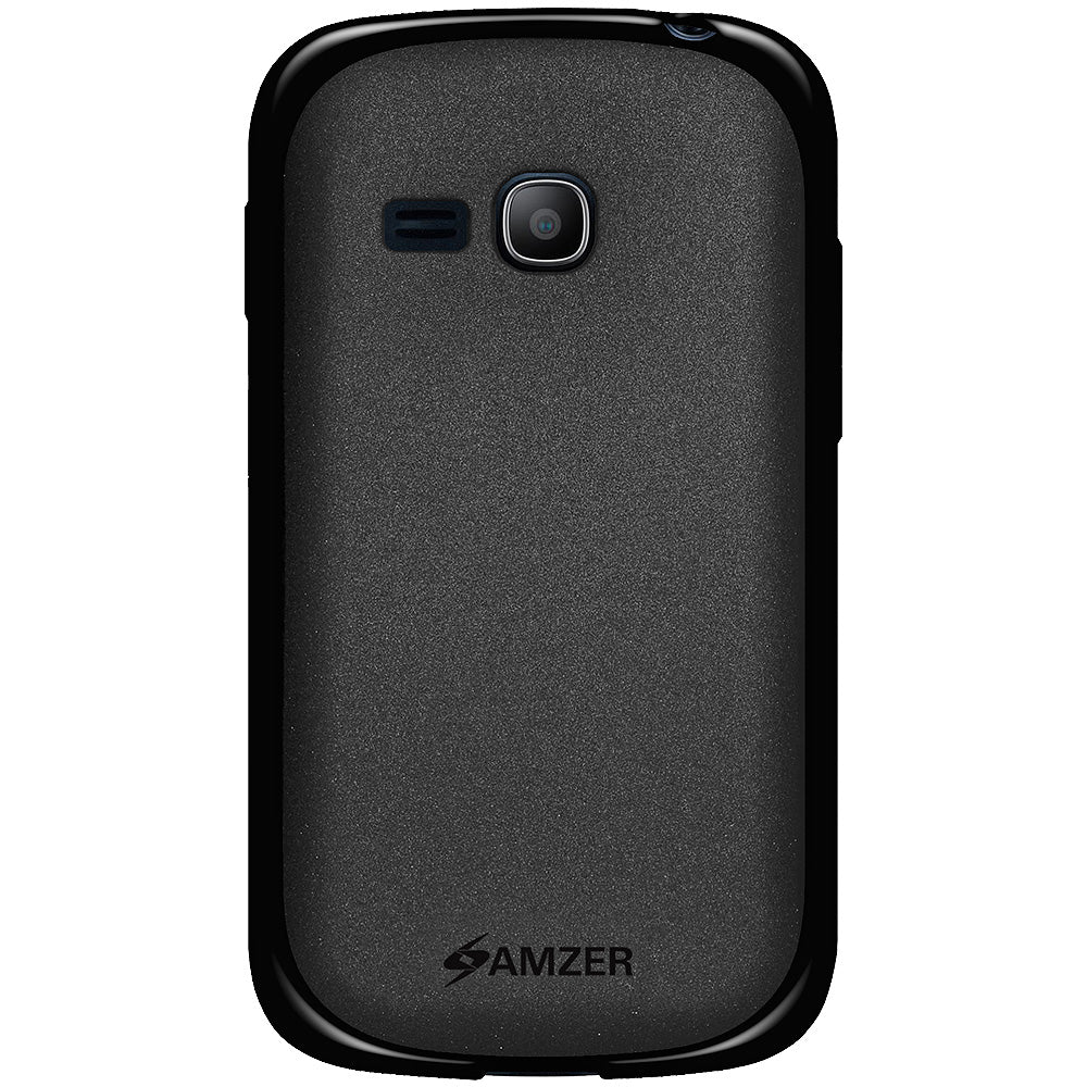 Amzer Pudding TPU Case - Black for Samsung Galaxy Fame Lite S6790