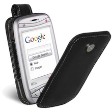 Load image into Gallery viewer, AMZER Flip Leather Case - Black for i-Mate JAM