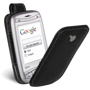 AMZER Flip Leather Case - Black for i-Mate JAM