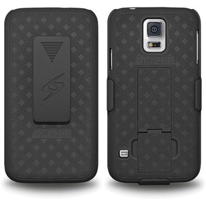 AMZER Shellster Hard Case  Belt Clip Holster for Samsung Galaxy S5 Neo - Black