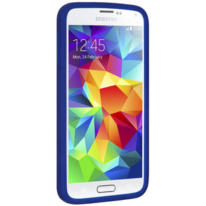 AMZER Silicone Skin Jelly Case for Samsung Galaxy S5 Neo SM-G903F - Blue