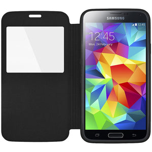 AMZER Flip Case With Swipe Window for Samsung Galaxy S5 Neo SM-G903F