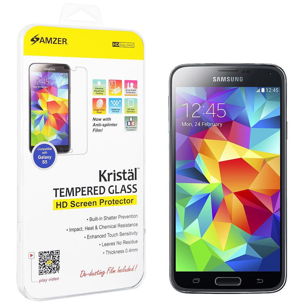 AMZER Tempered Glass HD Screen Protector for Samsung Galaxy S5 Neo SM-G903F