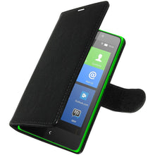 Load image into Gallery viewer, AMZER Flip Case - Black for Nokia X