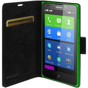 AMZER Flip Case - Black for Nokia X