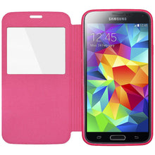 Load image into Gallery viewer, AMZER Flip Case With Swipe Window for Samsung Galaxy S5 Neo SM-G903F