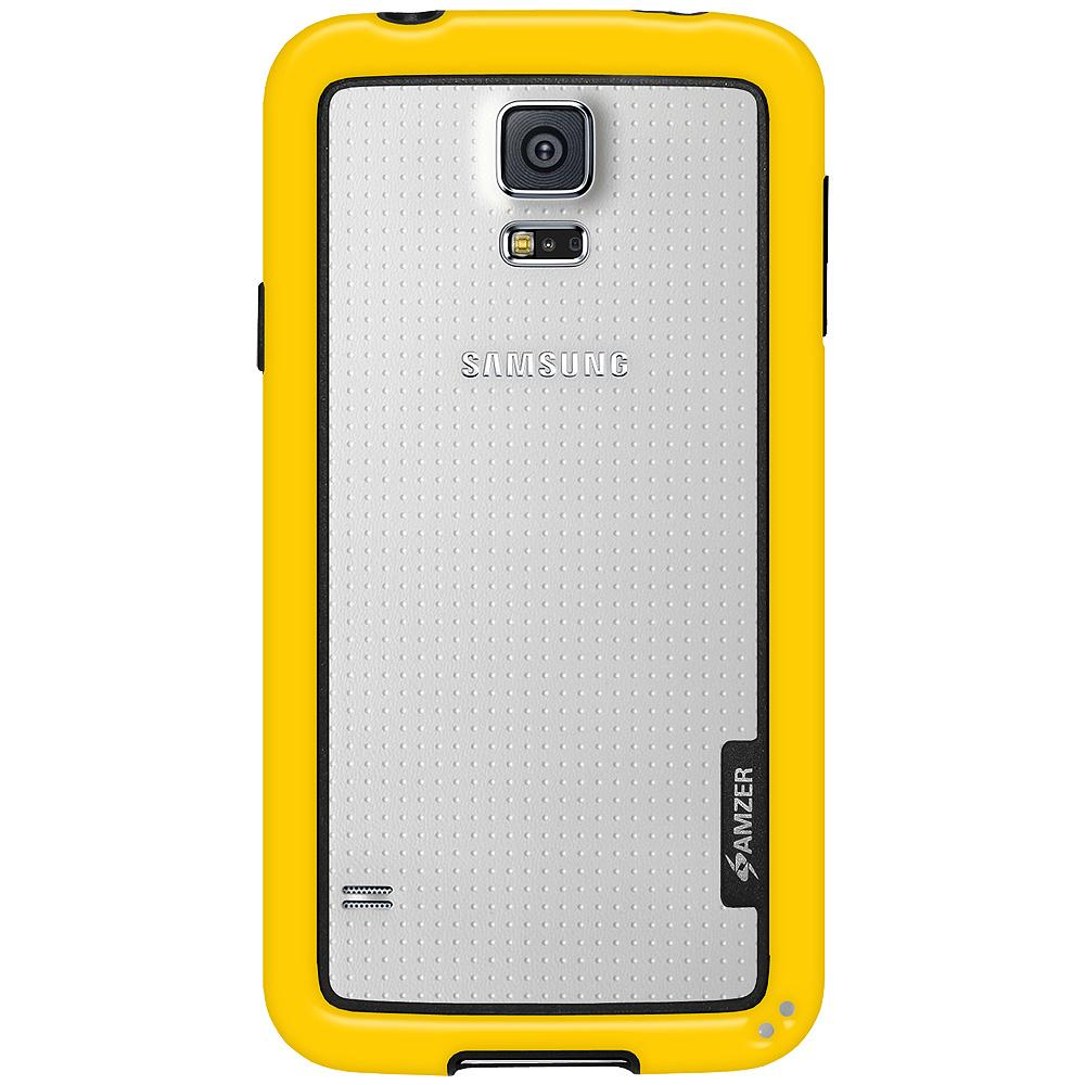 AMZER Border Case - Yellow for Samsung Galaxy S5 Neo SM-G903F