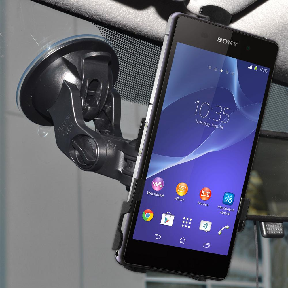 AMZER Suction Cup Mount for Windshield, Dash or Console for Sony Xperia Z2