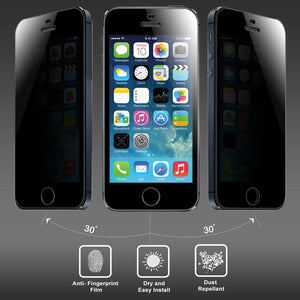 AMZER Kristal Privacy Tempered Glass HD Screen Protector for iPhone 5