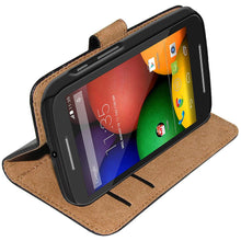 Load image into Gallery viewer, AMZER Flip Case - Black for Motorola Moto E XT1022