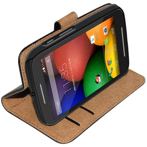 AMZER Flip Case - Black for Motorola Moto E XT1022