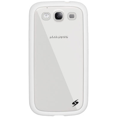 AMZER SlimGrip Hybrid Case - White for Samsung GALAXY S III GT-I9300