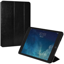 Load image into Gallery viewer, AMZER Shell Portfolio Case - Black Leather Texture for Apple iPad mini