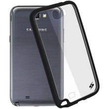 Load image into Gallery viewer, AMZER SlimGrip Hybrid Case - Black for Samsung Galaxy Note II GT-N7100