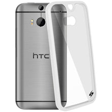 Load image into Gallery viewer, AMZER SlimGrip Hybrid Case - White for HTC One M8