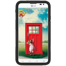 Load image into Gallery viewer, Amzer Double Layer Hybrid Case with Kickstand - Black/ Black for LG L70
