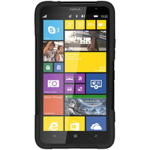Load image into Gallery viewer, AMZER Double Layer Hybrid Case with Kickstand Black/ Black for Nokia Lumia 1320