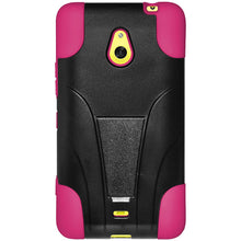 Load image into Gallery viewer, AMZER Double Layer Hybrid Case with Kickstand - Black/ Hot Pink for Nokia Lumia 1320