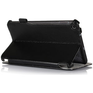 AMZER Shell Portfolio Case - Black Leather Texture for Asus MeMO Pad ME181C
