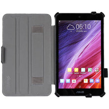 Load image into Gallery viewer, AMZER Shell Portfolio Case - Black Leather Texture for Asus MeMO Pad ME181C