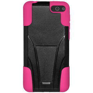 AMZER Double Layer Hybrid Case with Kickstand - Black/ Hot Pink for Amazon Fire Phone