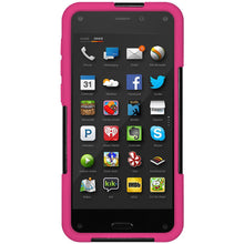 Load image into Gallery viewer, AMZER Double Layer Hybrid Case with Kickstand - Black/ Hot Pink for Amazon Fire Phone