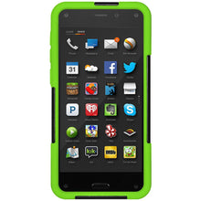 Load image into Gallery viewer, AMZER Hybrid Case with Kickstand - Black/ Neon Green for Amazon Fire Phone