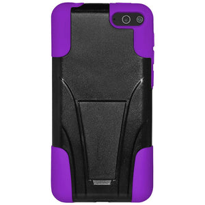 AMZER Double Layer Hybrid Case with Kickstand - Black/ Purple for Amazon Fire Phone