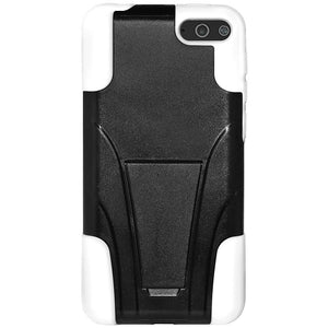 Amzer Double Layer Hybrid Case with Kickstand - Black/ White for Amazon Fire Phone