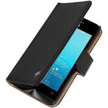Load image into Gallery viewer, AMZER Flip Case - Black for ASUS Zenfone 4 A400CG
