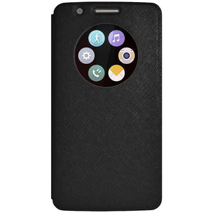 AMZER Flip Case with Quick Circle View - Black for LG G3 D852