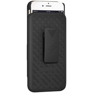 AMZER Shellster Hard Case with Belt Clip Holster for iPhone 6 - Black