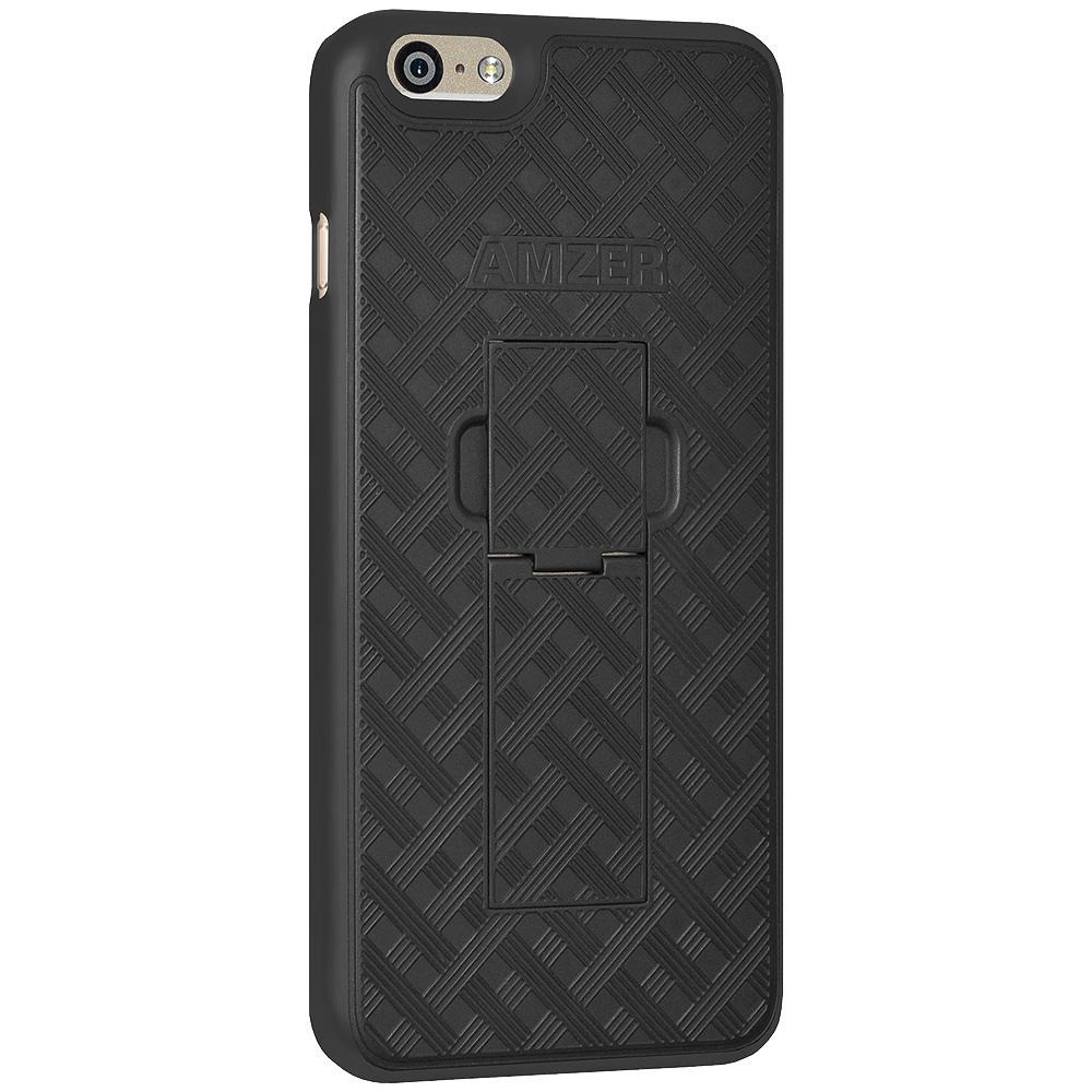 AMZER Hybrid Snap On Hard Case With Kickstand for iPhone 6