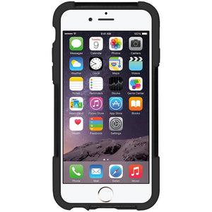 AMZER Double Layer Hybrid Case with Kickstand - Black/ Black for iPhone 6