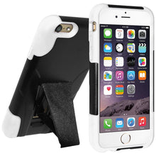 Load image into Gallery viewer, AMZER Double Layer Hybrid Case with Kickstand - Black/ White for iPhone 6