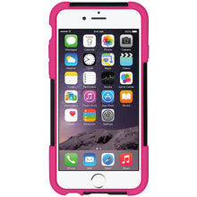 Load image into Gallery viewer, AMZER Double Layer Hybrid Case with Kickstand - Black/ Hot Pink for iPhone 6