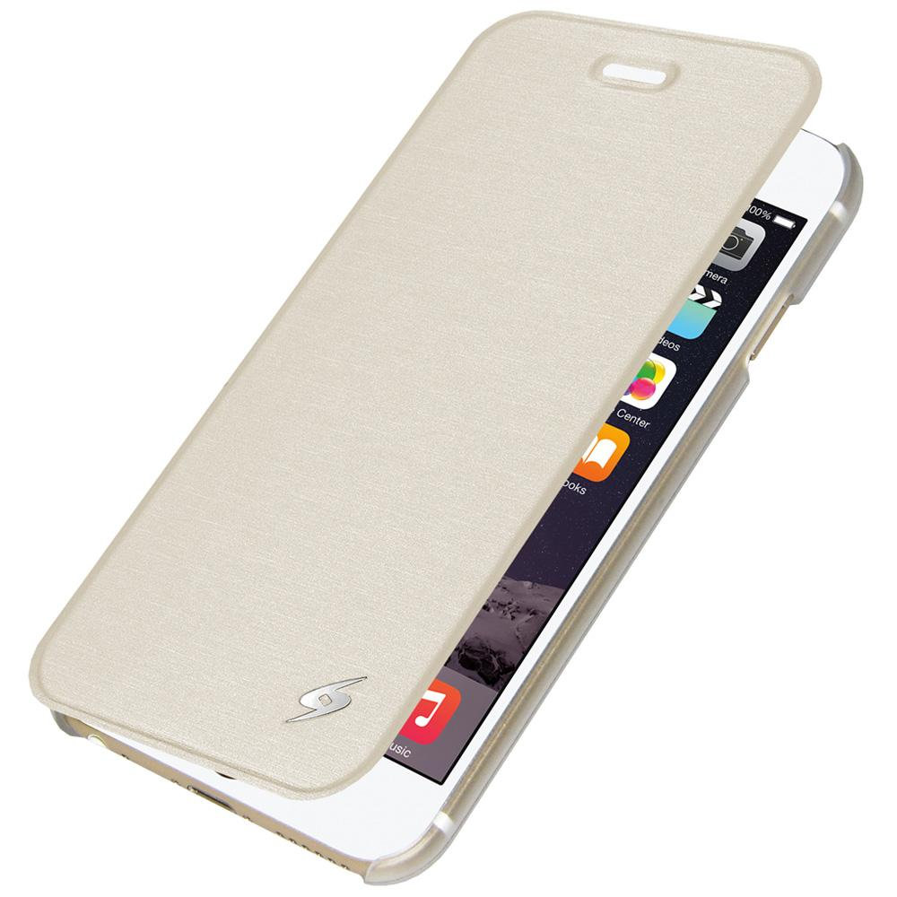AMZER Flip Case - White for iPhone 6